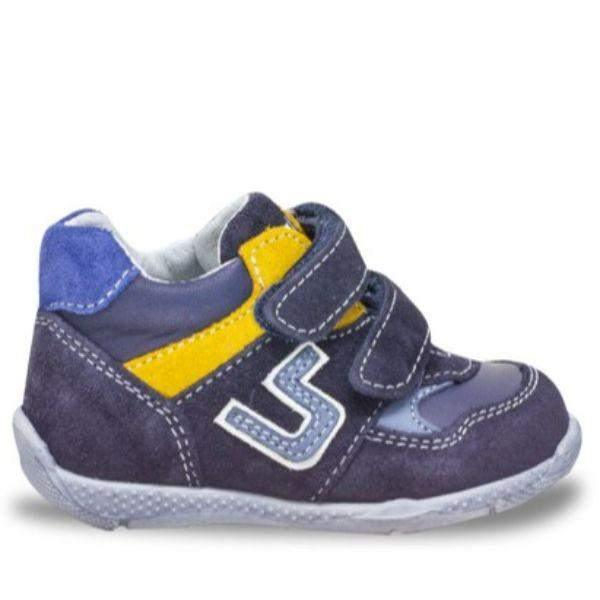 Balocchi 603171 Over Blue Boys Toddler Leather Shoes (Ankle/Arch Support)