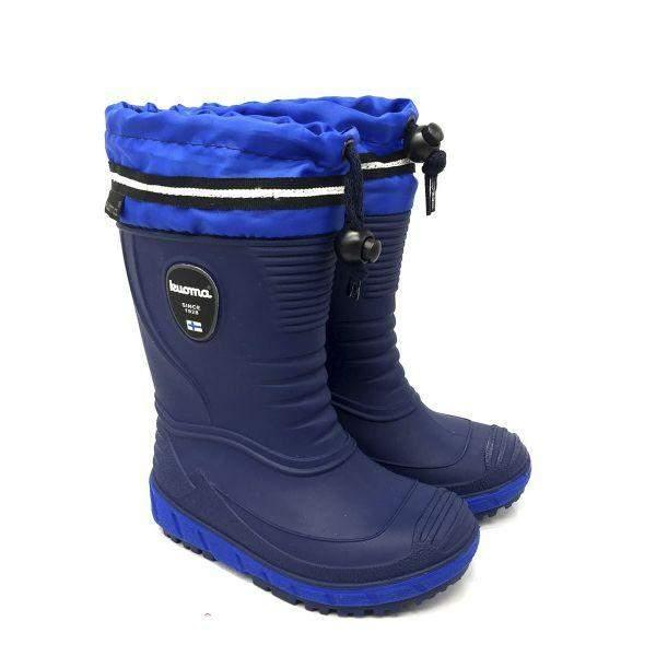 KUOMA VIHMA Boys Fur Lined Rain Boots (Made in Italy)