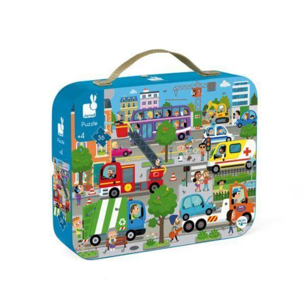 Janod 36 pc Kids Puzzle City Toy (4-6 Years Old)