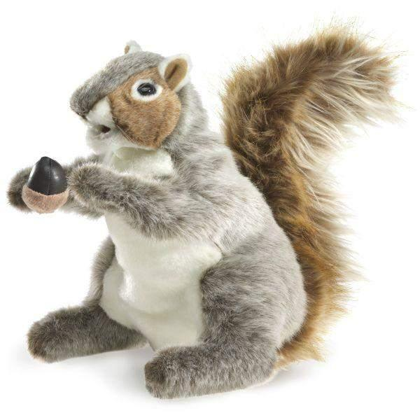 Folkmanis Gray Squirrel Kids Hand Puppet - ShoeKid Canada