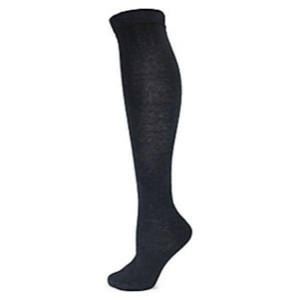 Point Zero Girls Knee-High Cotton Socks Navy - ShoeKid.ca