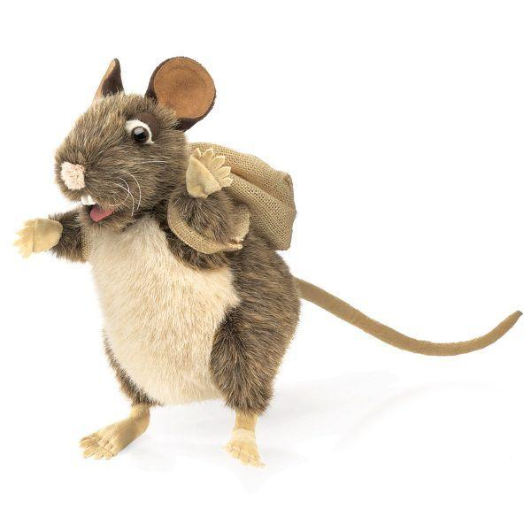 Folkmanis Rat With Backpack Kids Hand Puppet