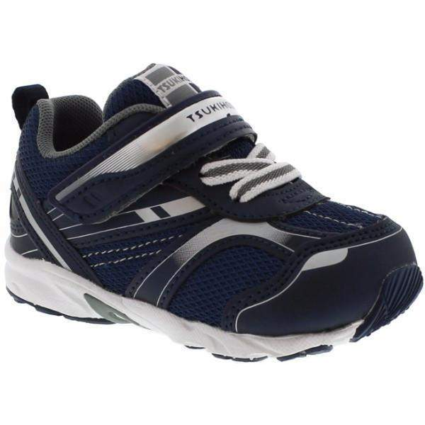 Boys Running Shoes - Tsukihoshi BABY22  Toddler Shoes / Navy Silver