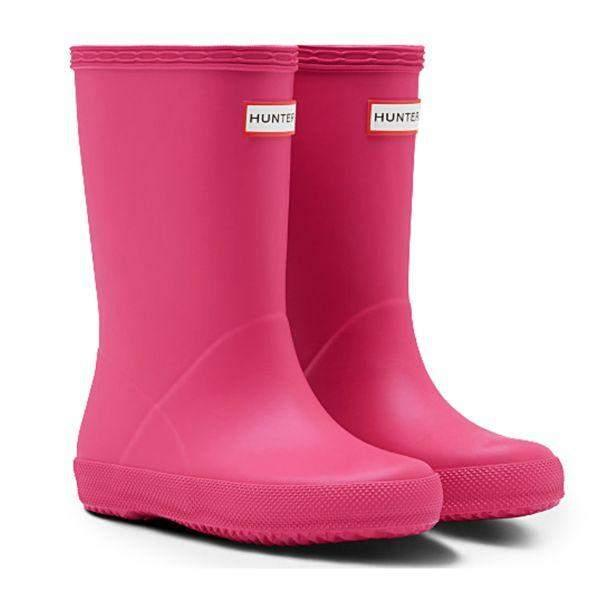 Hunter Kids Original First Pink Matte Rain Boots - ShoeKid.ca