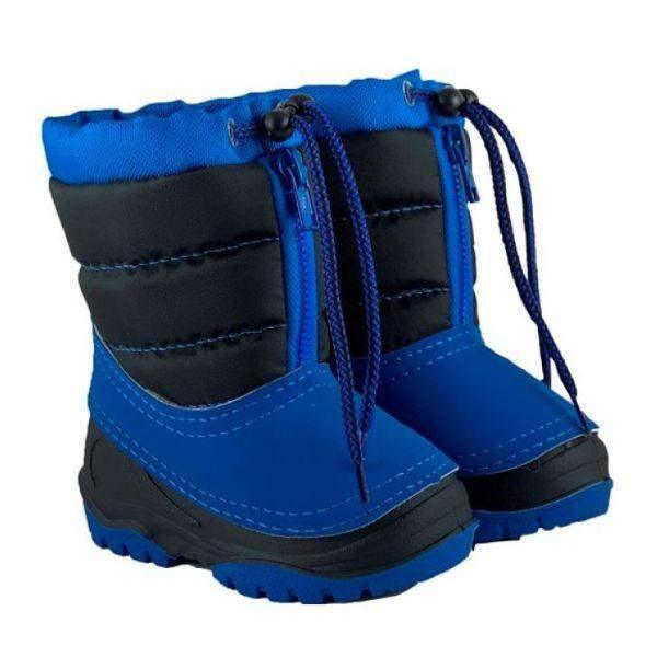 Alisa Kids Blue/Black Alaska Mini Toddler Winter Boots -25C - ShoeKid.ca