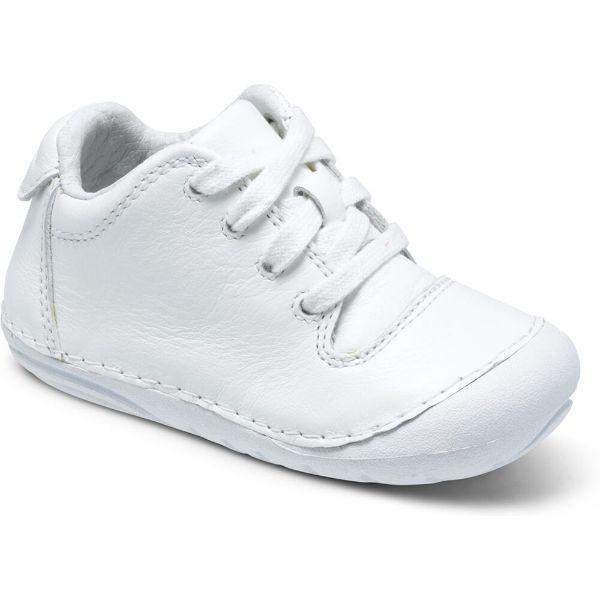Stride Rite Freddie Baby Toddler White Lace-up Sneaker