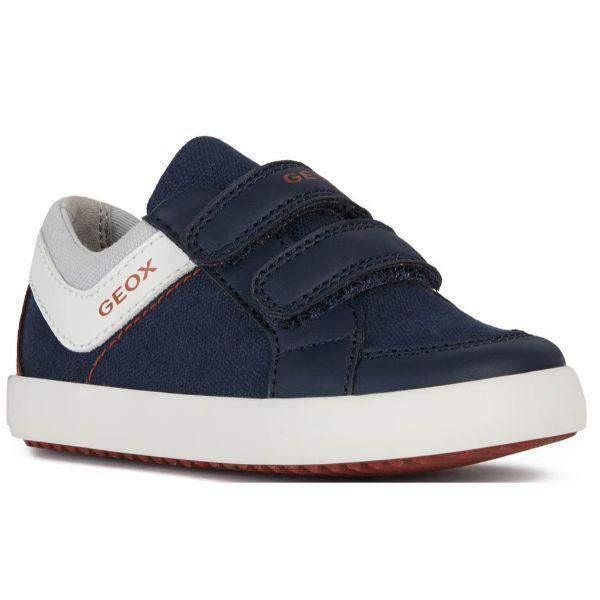 Geox B Gisli B. B Canvas Navy Red Toddler Casual Shoes