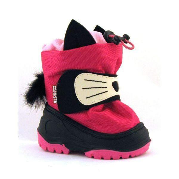 Alisa Crimson Cat Toddler Winter Boots (Made in Europe) -25C - ShoeKid.ca