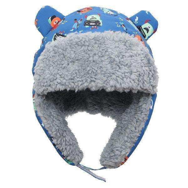Flapjacks Water Repellent Trapper Hat Monsters Blue