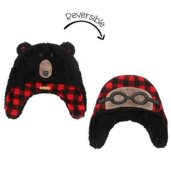 Flapjacks Reversible Sherpa Hat BlackBear/Aviator