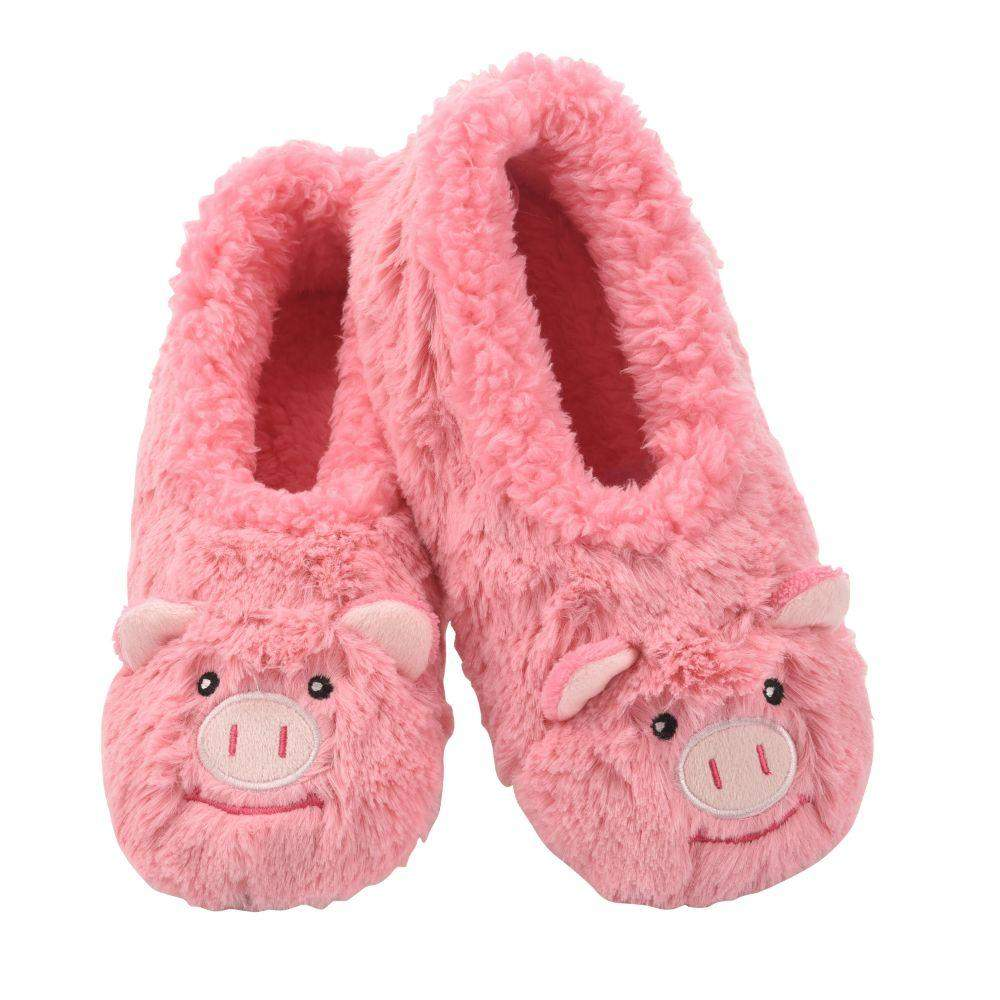 Snoozies Pig Furry Foot Pal Toddler/Kids/Youth Slippers