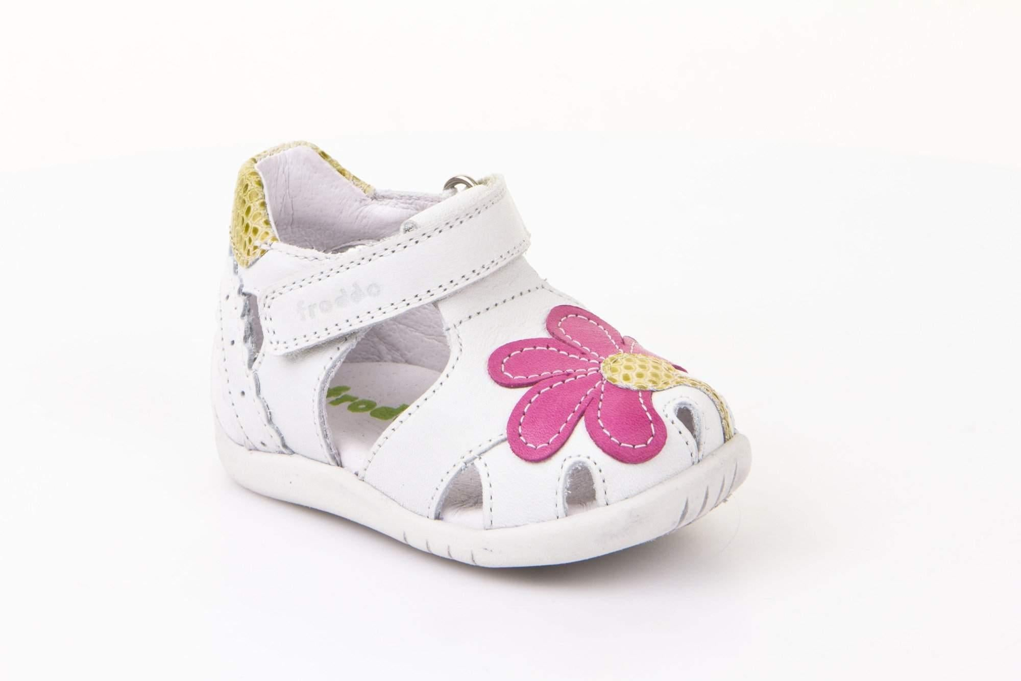Froddo/G2150084-1/White/Girls  Leather Sandals /Infant - ShoeKid.ca
