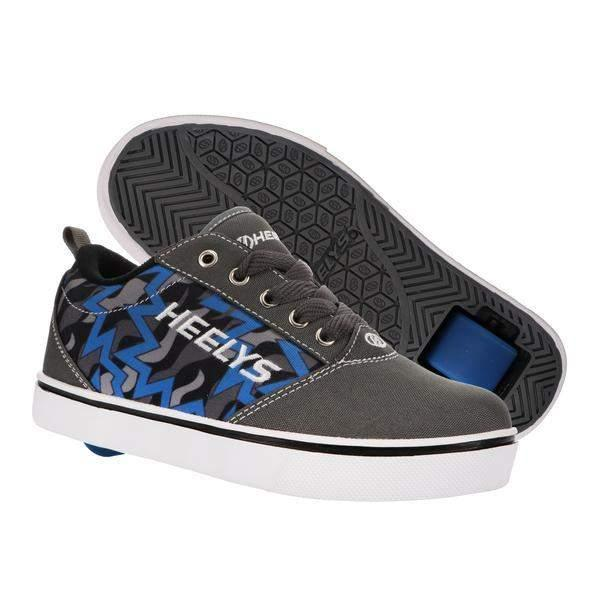 Heelys PRO 20 PRINTS – Charcoal/Blue/Black - ShoeKid.ca
