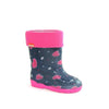 Alisa Kids Rainboot Hearts with Removable Insulation (Made in Europe)-5C - ShoeKid.ca
