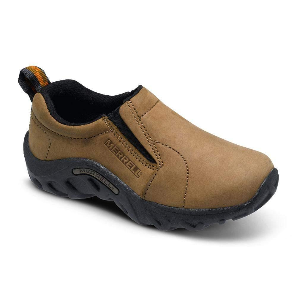 Merrell/J95625/Jungle Moc Nubuck Kids/Brown/Kids Natures Playground/Big Kid - ShoeKid.ca