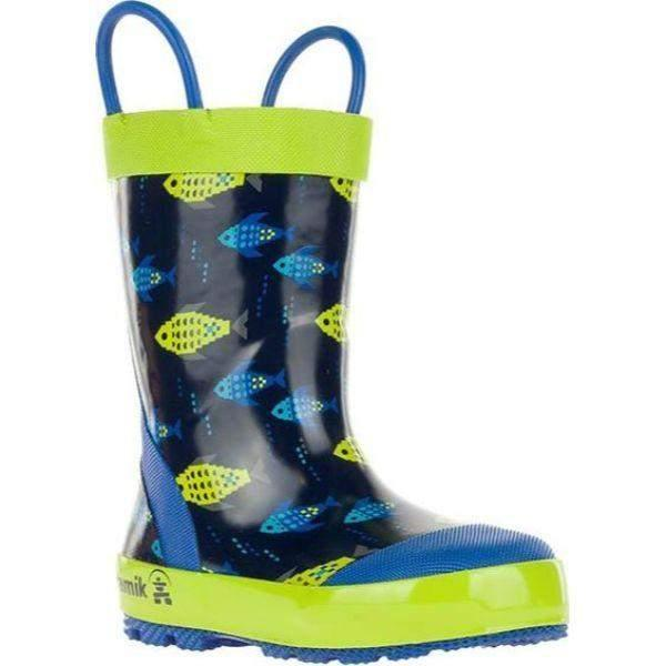 Kamik FISHRIDE Navy Boys Toddler Kids Rain Boot