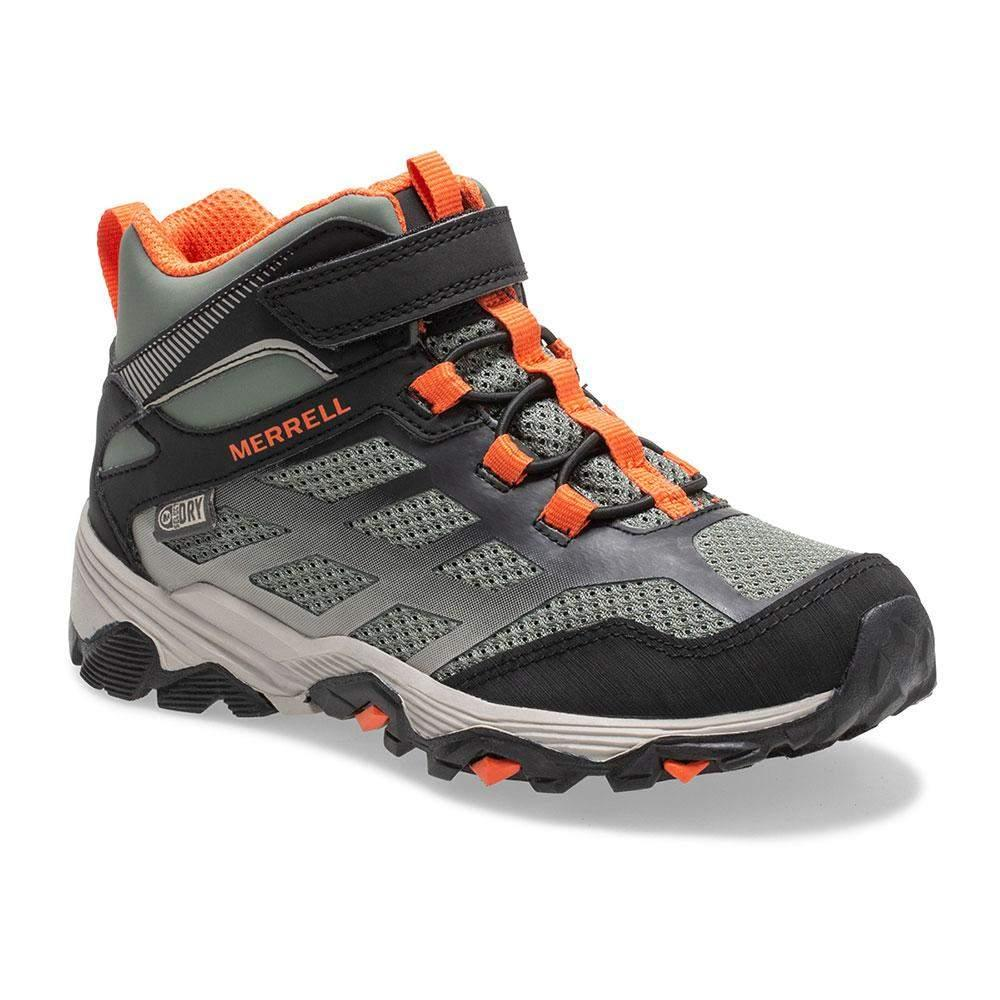 Merrell/MK262575/Moab Mid Waterproof/Black/Boys Hike/Big Kid - ShoeKid.ca