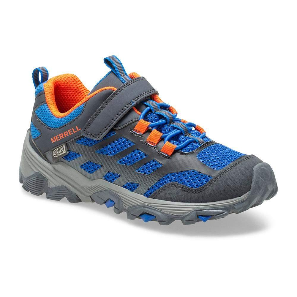 Merrell/MK262585/Moab Low Waterproof/Blue/Boys Hike/Big Kid - ShoeKid.ca