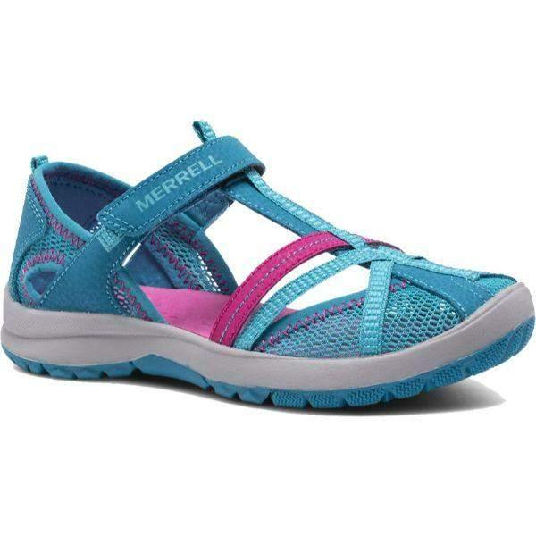 Merrell/MK164456/Dragonfly/Blue/Girls Sandals/Little/Big Kid