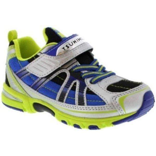 Tsukihoshi Storm Silver Lime Boys Running Shoes (Machine Washable) - ShoeKid.ca