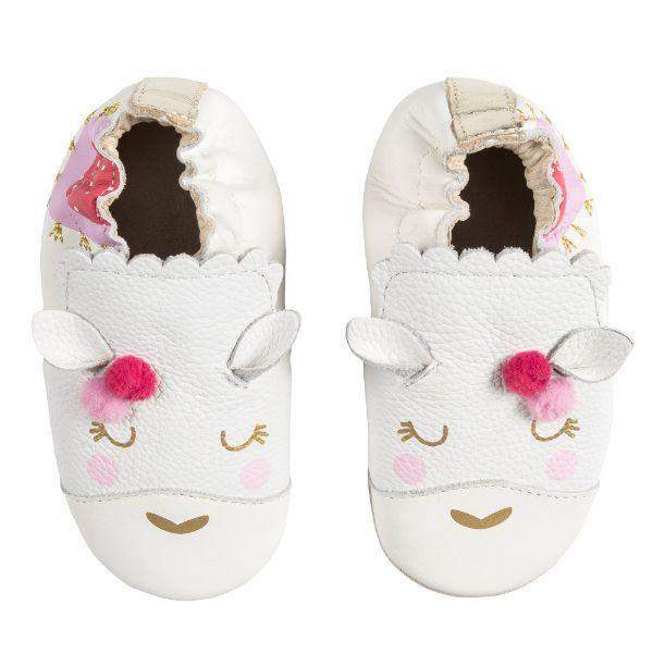 Robeez Baby Shoes Soft Sole Luna White