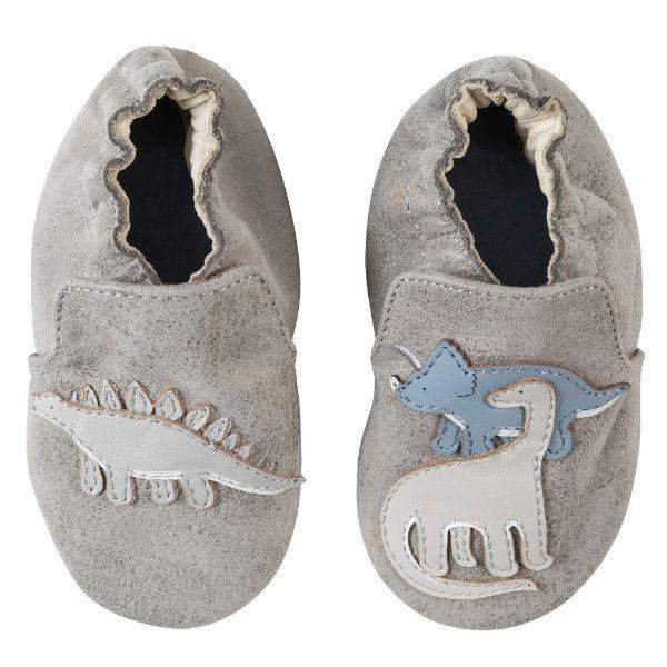 Robeez Baby Shoes Soft Sole Ramsey Grey