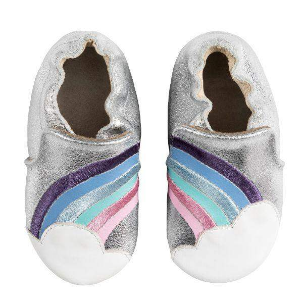 Robeez Baby Shoes Soft Sole Hope Silver