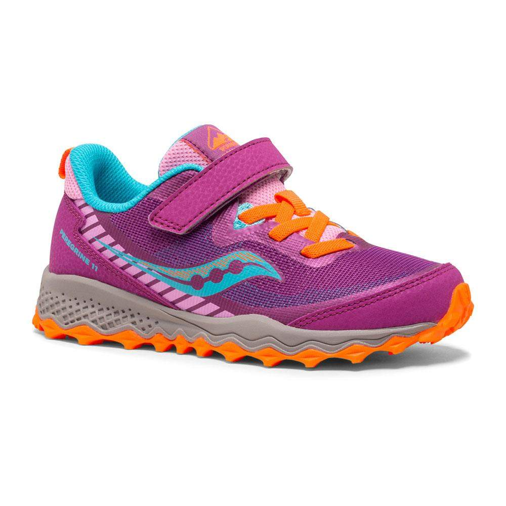 Saucony Kids SK164354 Peregrine Girls Running Shoes (Water Repellent)