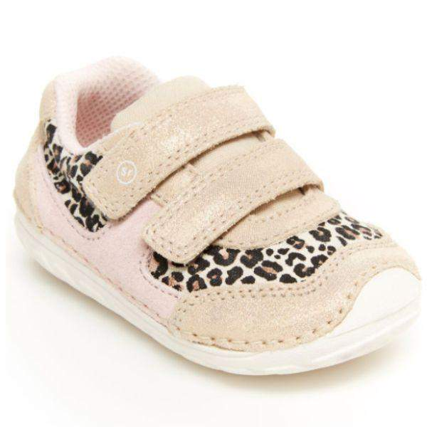 Stride Rite Girls Mason Leopard Infant Toddler Baby Shoes - ShoeKid.ca
