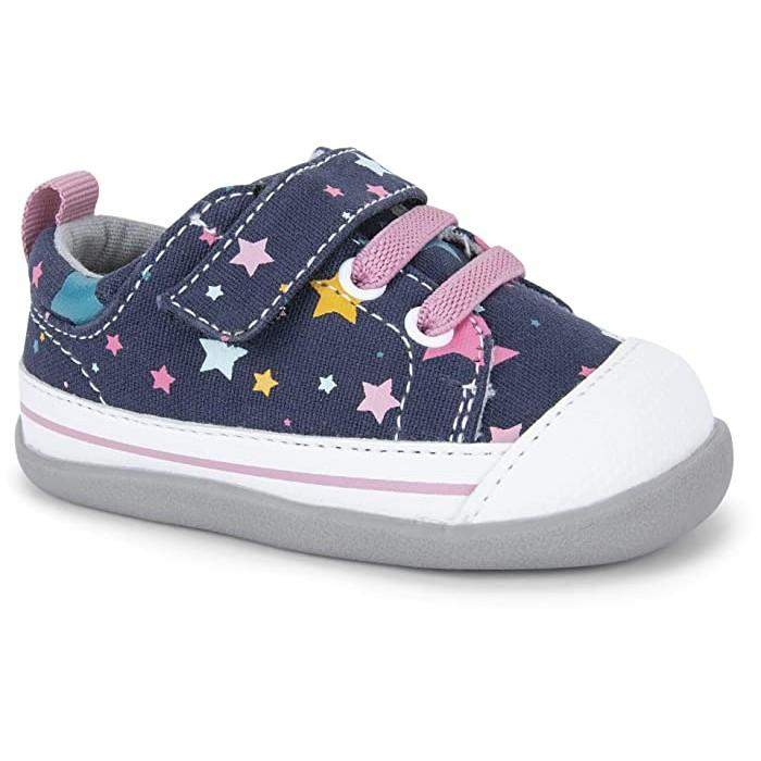 See Kai Run/Stevie II INF/Navy/Girls First Walking Shoes - ShoeKid.ca