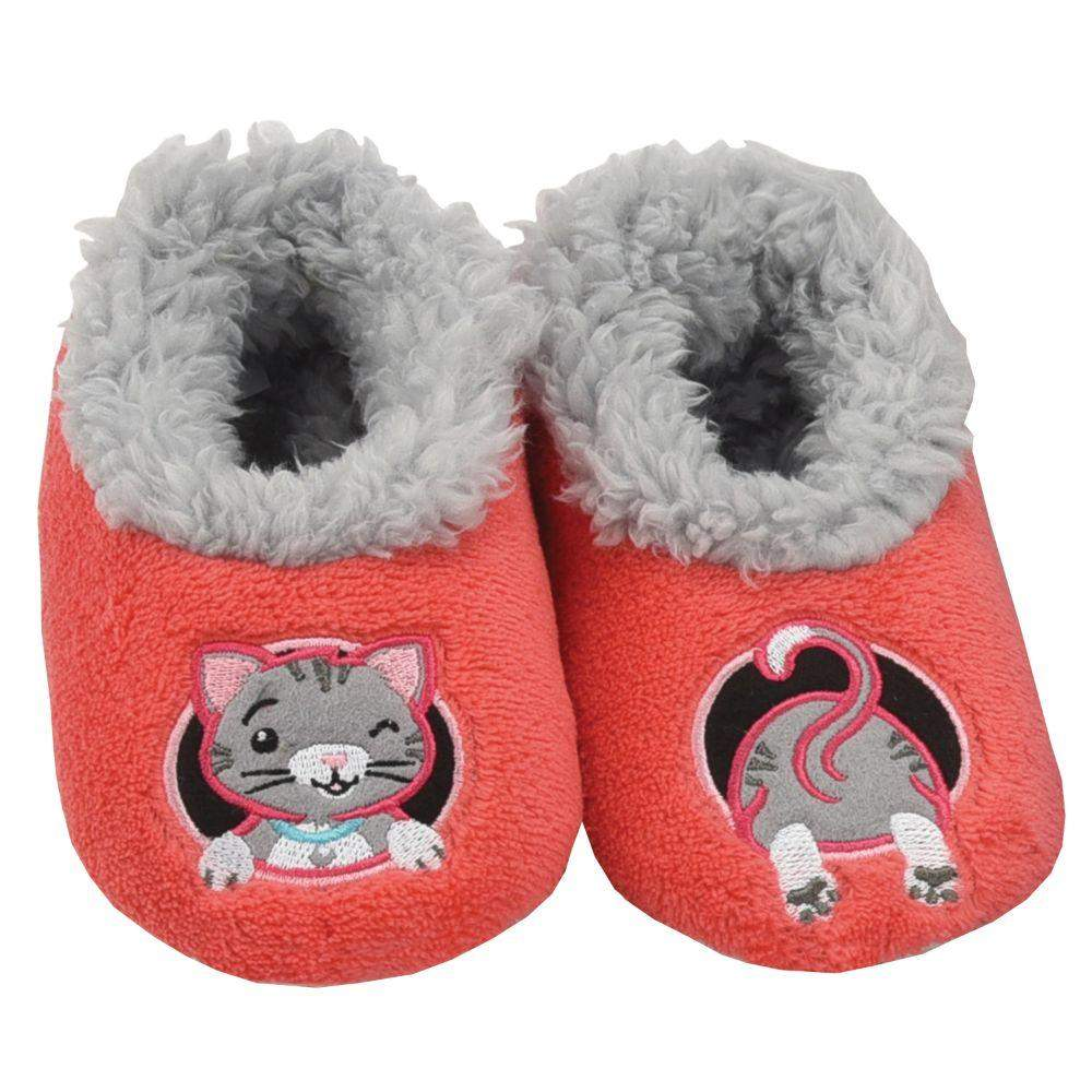 Snoozies Cat Patch Pals Kids Toddler Slippers