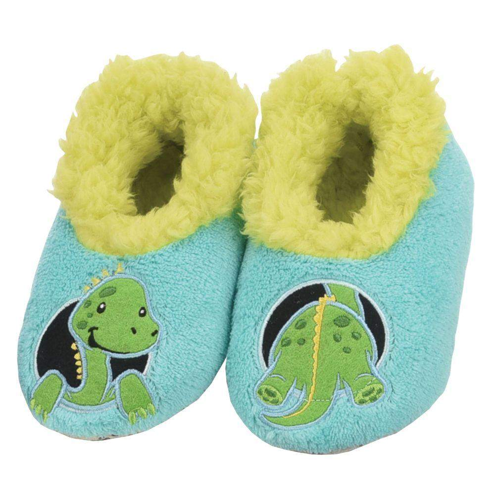 Snoozies Dinosaur Patch Pals Kids Toddler Slippers