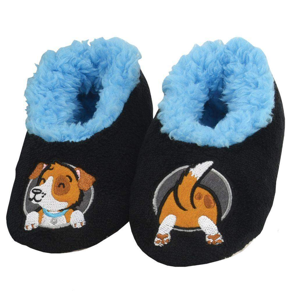 Snoozies Dog Patch Pals Kids Toddler Slippers