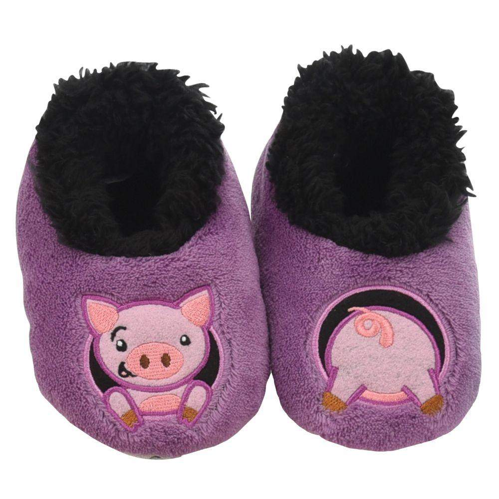 Snoozies Pig Patch Pals Kids Toddler Slippers