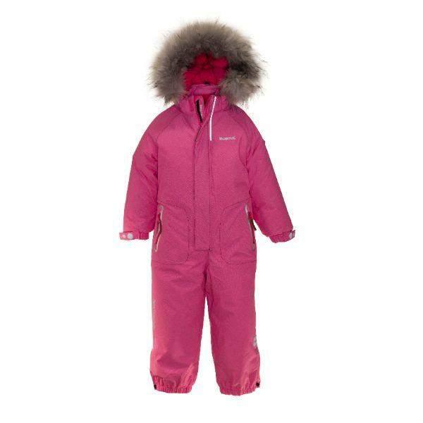 Kuoma Kids One Piece UNNI Snowsuit Pink Denim (Made in Finland)