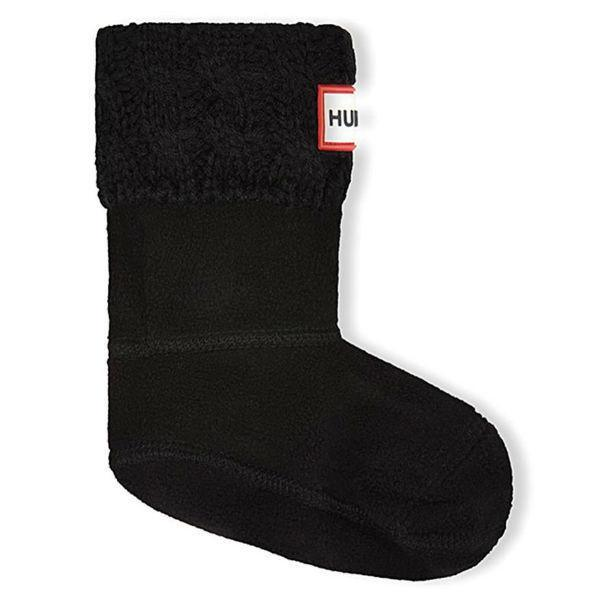 Hunter Kids' Six-Stitch Cable Boot Fleece Socks - ShoeKid.ca
