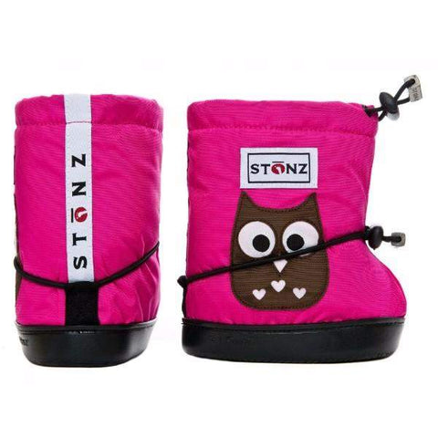 Accessories - Stonz Bootie Owl Fuschsia PLUS FOAM / Infant / Toddler