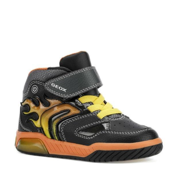 Geox Boy's Inek Light-Up High Top Sneakers - ShoeKid Canada