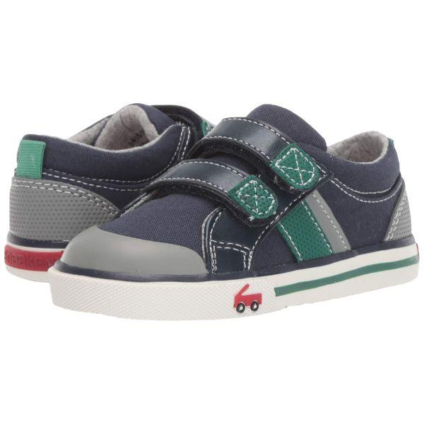 See Kai Run Boy's Russell Sneaker Navy/Green - ShoeKid Canada