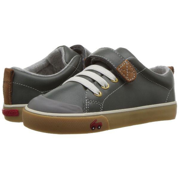 See Kai Run Kids' Stevie Ii Sneaker, Gray Leather - ShoeKid Canada