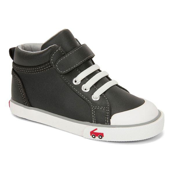 Boys Casual Shoes - See Kai Run Peyton Black Leather