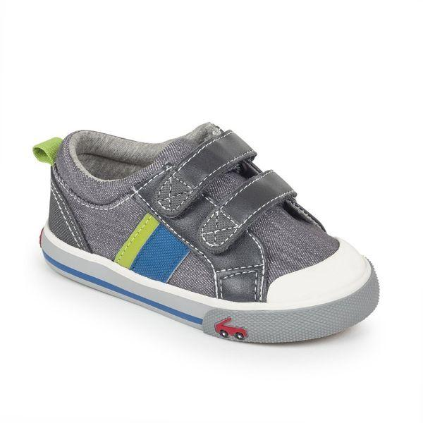 See Kai Run Russell Gray Denim Boys Casual Shoes