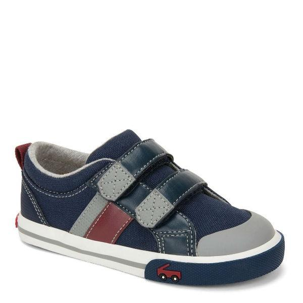 Boys Casual Shoes - See Kai Run Russell Navy Red / Little Kids