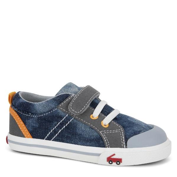 Boys Casual Shoes - See Kai Run - Tanner Sneakers For Kids, Washed Denim