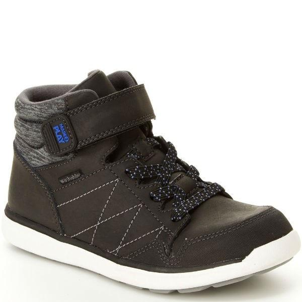 Stride Rite Saul Black Boys Boot / Machine Washable - ShoeKid Canada