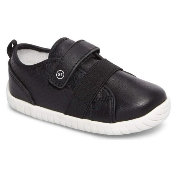 Stride Rite SRT SM Riley Black Leather Toddler Shoes
