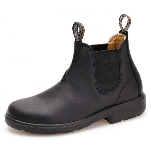 Yabbies Australian Kids Chelsea Leather Black Boot