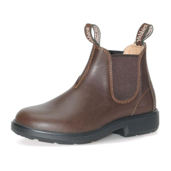 Yabbies Chelsea Kids Leather Boot / Chestnut / Made in Germany - ShoeKid Canada