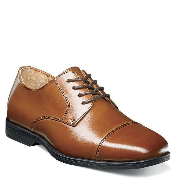 Boys Dress Shoes - Florsheim Reveal Cap Toe OX  /  Cognac / Youth