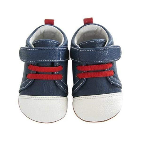 Boys First Walking Shoes - Jack & Lily KRISTOF Navy/White